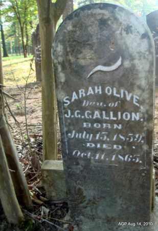 GALLION, SARAH OLIVE - Cleveland County, Arkansas | SARAH OLIVE GALLION - Arkansas Gravestone Photos