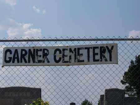 *GARNER, CEMETERY GATE - Cleveland County, Arkansas | CEMETERY GATE *GARNER - Arkansas Gravestone Photos