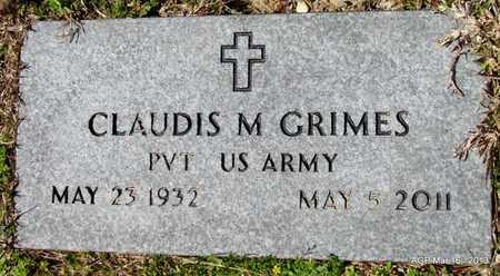 GRIMES (VETERAN), CLAUDIS M - Cleveland County, Arkansas | CLAUDIS M GRIMES (VETERAN) - Arkansas Gravestone Photos