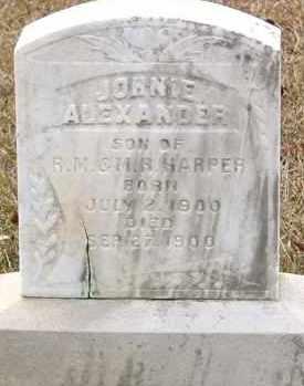 HARPER, JOHNIE ALEXANDER - Cleveland County, Arkansas   JOHNIE ALEXANDER HARPER - Arkansas Gravestone Photos