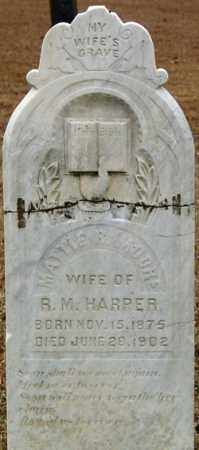 HARPER, MATTIE R - Cleveland County, Arkansas | MATTIE R HARPER - Arkansas Gravestone Photos