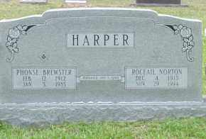 HARPER, PHONSE - Cleveland County, Arkansas | PHONSE HARPER - Arkansas Gravestone Photos