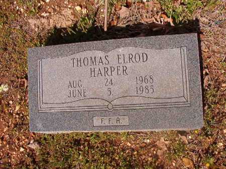HARPER, THOMAS ELROD - Cleveland County, Arkansas   THOMAS ELROD HARPER - Arkansas Gravestone Photos