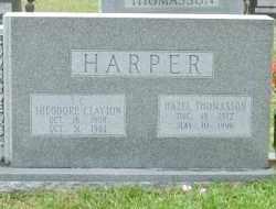 THOMASSON HARPER, HAZEL - Cleveland County, Arkansas   HAZEL THOMASSON HARPER - Arkansas Gravestone Photos
