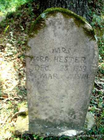 HESTER, NORA - Cleveland County, Arkansas   NORA HESTER - Arkansas Gravestone Photos