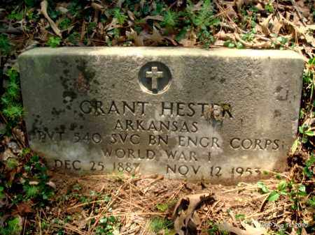 HESTER (VETERAN WWI), GRANT - Cleveland County, Arkansas   GRANT HESTER (VETERAN WWI) - Arkansas Gravestone Photos