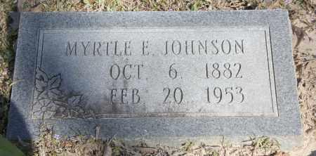 JOHNSON, MYRTLE E - Cleveland County, Arkansas   MYRTLE E JOHNSON - Arkansas Gravestone Photos