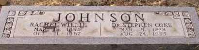 JOHNSON, RACHEL WILLIE - Cleveland County, Arkansas | RACHEL WILLIE JOHNSON - Arkansas Gravestone Photos