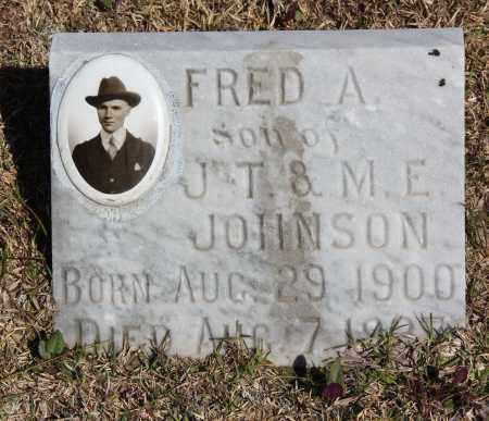 JOHNSON, FRED A - Cleveland County, Arkansas | FRED A JOHNSON - Arkansas Gravestone Photos