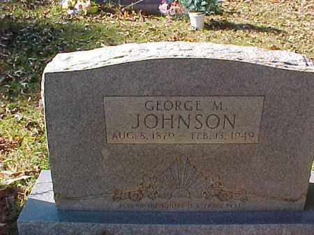JOHNSON, GEORGE M - Cleveland County, Arkansas   GEORGE M JOHNSON - Arkansas Gravestone Photos