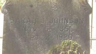 JOHNSON, SARAH J - Cleveland County, Arkansas   SARAH J JOHNSON - Arkansas Gravestone Photos