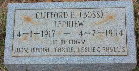 """LEPHIEW, CLIFFORD E """"BOSS"""" - Cleveland County, Arkansas 
