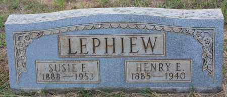 LEPHIEW, SUSIE E - Cleveland County, Arkansas | SUSIE E LEPHIEW - Arkansas Gravestone Photos