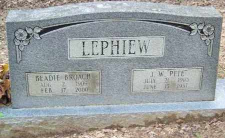 "LEPHIEW, J. W. ""PETE"" - Cleveland County, Arkansas 
