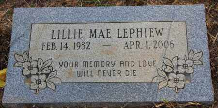 LEPHIEW, LILLIE MAE - Cleveland County, Arkansas | LILLIE MAE LEPHIEW - Arkansas Gravestone Photos