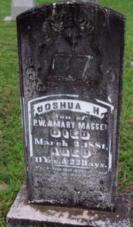 MASSEY, JOSHUA H - Cleveland County, Arkansas   JOSHUA H MASSEY - Arkansas Gravestone Photos