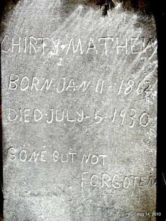 MATHEWS, CHIRTY - Cleveland County, Arkansas   CHIRTY MATHEWS - Arkansas Gravestone Photos