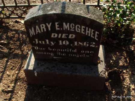MCGEHEE, MARY E - Cleveland County, Arkansas | MARY E MCGEHEE - Arkansas Gravestone Photos