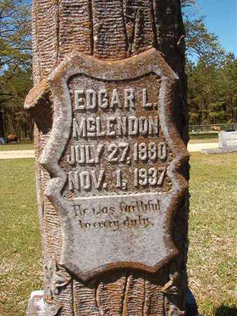 MCLENDON, EDGAR L - Cleveland County, Arkansas | EDGAR L MCLENDON - Arkansas Gravestone Photos