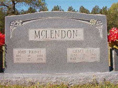 MCLENDON, JOHN RAINES - Cleveland County, Arkansas | JOHN RAINES MCLENDON - Arkansas Gravestone Photos