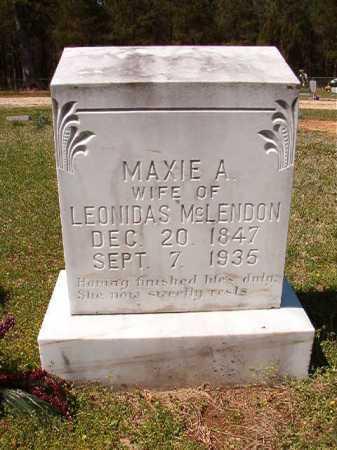 MCLENDON, MAXIE A - Cleveland County, Arkansas   MAXIE A MCLENDON - Arkansas Gravestone Photos