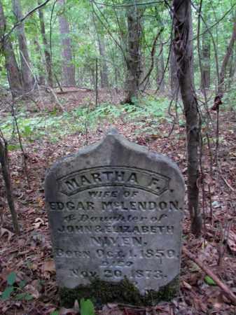 NIVEN MCLENDON, MARTHA F - Cleveland County, Arkansas | MARTHA F NIVEN MCLENDON - Arkansas Gravestone Photos