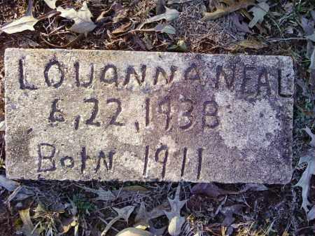 NEAL, LOUANNA - Cleveland County, Arkansas   LOUANNA NEAL - Arkansas Gravestone Photos