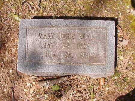 NEAL, MARY JOHN - Cleveland County, Arkansas   MARY JOHN NEAL - Arkansas Gravestone Photos