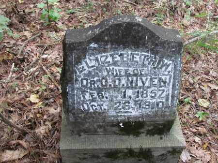 BOYD NIVEN, ELIZEBETH W - Cleveland County, Arkansas | ELIZEBETH W BOYD NIVEN - Arkansas Gravestone Photos