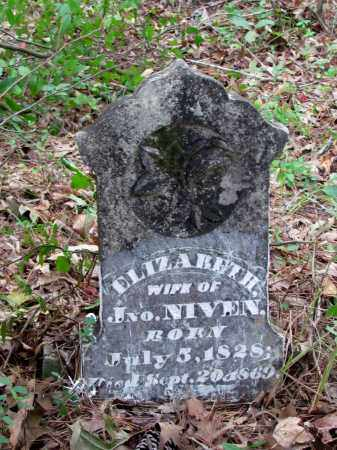 TIMMONS NIVEN, ELIZABETH (ORIGINAL HEADSTONE) - Cleveland County, Arkansas   ELIZABETH (ORIGINAL HEADSTONE) TIMMONS NIVEN - Arkansas Gravestone Photos