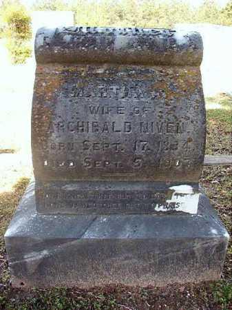 NIVEN, MARTHA A - Cleveland County, Arkansas   MARTHA A NIVEN - Arkansas Gravestone Photos