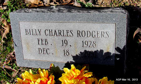 RODGERS, BILLY CHARLES - Cleveland County, Arkansas | BILLY CHARLES RODGERS - Arkansas Gravestone Photos