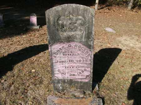 ROGERS, ABNER D - Cleveland County, Arkansas   ABNER D ROGERS - Arkansas Gravestone Photos