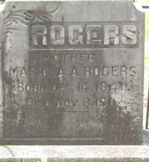 ROGERS, MARTHA A - Cleveland County, Arkansas   MARTHA A ROGERS - Arkansas Gravestone Photos