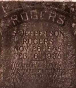 ROGERS, S JEFFERSON - Cleveland County, Arkansas   S JEFFERSON ROGERS - Arkansas Gravestone Photos