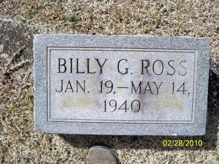 ROSS, BILLY G. - Cleveland County, Arkansas | BILLY G. ROSS - Arkansas Gravestone Photos
