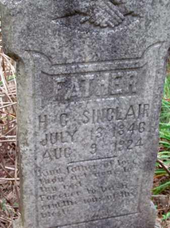 SINCLAIR, HUGH C (CLOSE UP) - Cleveland County, Arkansas | HUGH C (CLOSE UP) SINCLAIR - Arkansas Gravestone Photos