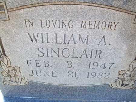 SINCLAIR, WILLIAM A. - Cleveland County, Arkansas | WILLIAM A. SINCLAIR - Arkansas Gravestone Photos