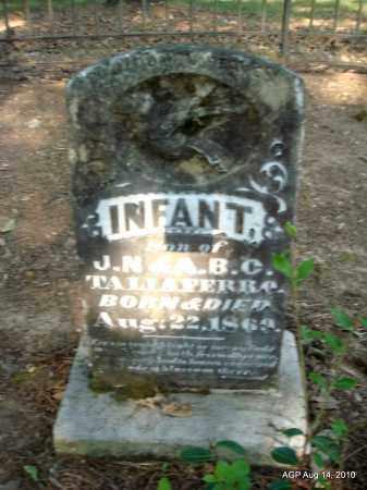 TALIAFERRO, INFANT SON - Cleveland County, Arkansas   INFANT SON TALIAFERRO - Arkansas Gravestone Photos