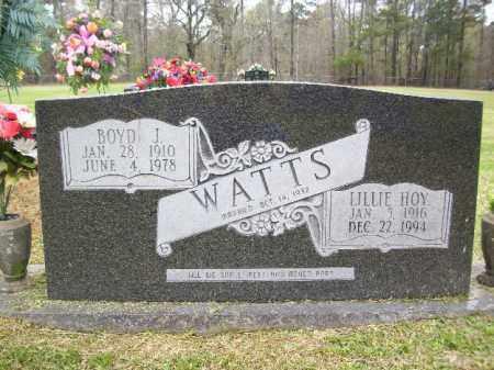WATTS, BOYD J - Cleveland County, Arkansas | BOYD J WATTS - Arkansas Gravestone Photos