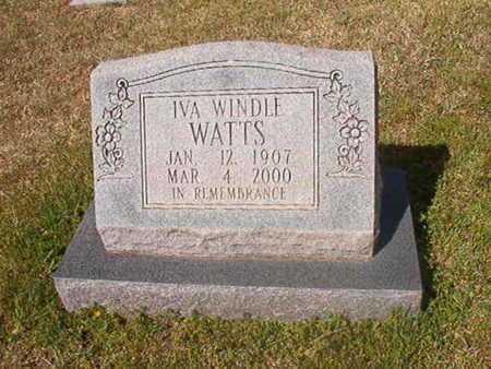 WATTS, IVA - Cleveland County, Arkansas | IVA WATTS - Arkansas Gravestone Photos