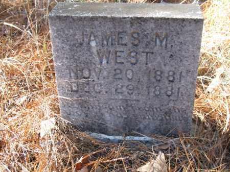 WEST, JAMES M. - Cleveland County, Arkansas | JAMES M. WEST - Arkansas Gravestone Photos
