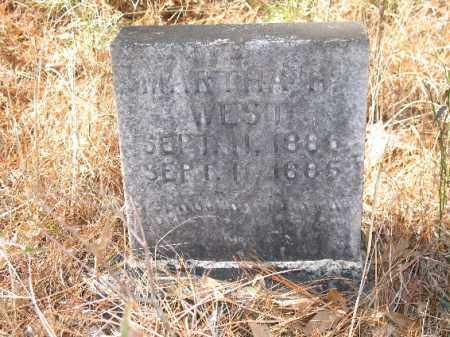 WEST, MARTHA H. - Cleveland County, Arkansas | MARTHA H. WEST - Arkansas Gravestone Photos
