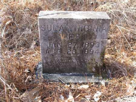 WEST, SULA VIRGINIA - Cleveland County, Arkansas | SULA VIRGINIA WEST - Arkansas Gravestone Photos