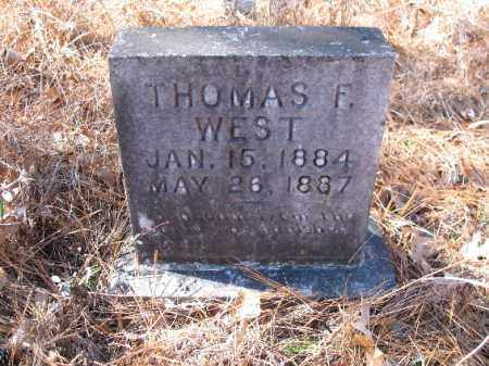 WEST, THOMAS F. - Cleveland County, Arkansas | THOMAS F. WEST - Arkansas Gravestone Photos