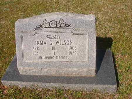 WILSON, IRMA G - Cleveland County, Arkansas | IRMA G WILSON - Arkansas Gravestone Photos