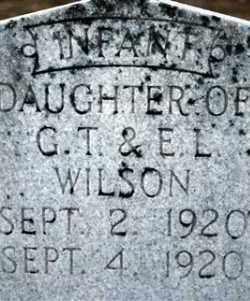 WILSON, INFANT - Cleveland County, Arkansas | INFANT WILSON - Arkansas Gravestone Photos