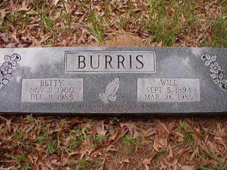 BURRIS, BETTY - Columbia County, Arkansas | BETTY BURRIS - Arkansas Gravestone Photos