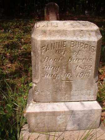 BURRIS, FANNIE - Columbia County, Arkansas | FANNIE BURRIS - Arkansas Gravestone Photos
