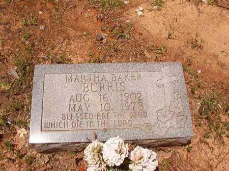 BURRIS, MARTHA - Columbia County, Arkansas   MARTHA BURRIS - Arkansas Gravestone Photos
